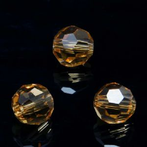 Beads, Selenial Crystal, Crystal, Light brown , Faceted Rounds, Diameter 8mm, 10 Beads, [ZZC126]